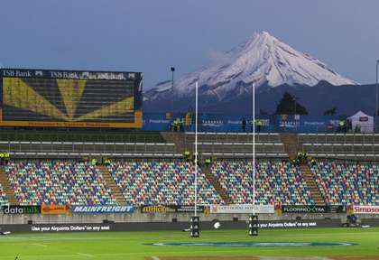 Le stade de rugbi de New Plymouth Arrow